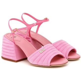 Fendi Promenade suede slingback sandals