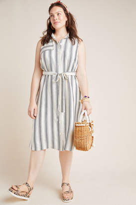 Maeve Esther Striped Shirtdress