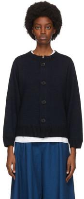 Blue Blue Japan Navy Yarn-Dyed Cardigan