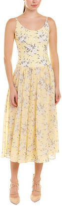 Rebecca Taylor Lemon Pleated Midi Dress