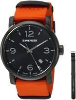 Wenger Men's 01.1041.131 Urban Metropolitan Analog Display Swiss Quartz Orange Watch