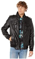 Levi's Two-Pocket Military Bomber with Sherpa Lining (Dark Brown) Men's Clothing