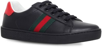 Gucci Kids New Ace Web Sneakers