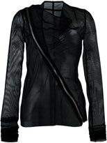 Rick Owens Lilies semi sheer tulle biker jacket