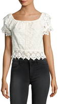 Winston White Farrah Cotton Embroidered Lace Top