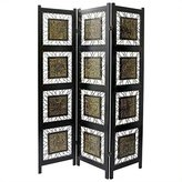Oriental Furniture Unique Modern Design, 6-Feet Tall Bamboo Leaf Folding Screen Room Divider