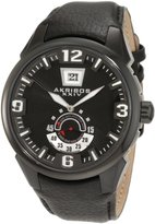 Akribos XXIV Men's AKR461BK Round Quartz Big Date Bold Strap Watch