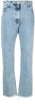 Natasha Zinko Frayed Straight Jeans