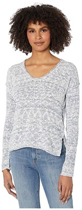 Michael Stars Phoebe Soft V-Neck Pullover Capri Sweater (Admiral Marl) Women's Clothing