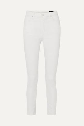 Gold Sign The High Rise Slim-leg Jeans - White