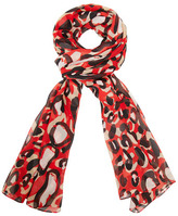 Dorothy Perkins Red oversized chiffon scarf