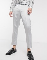 Twisted Tailor suit trousers in silver