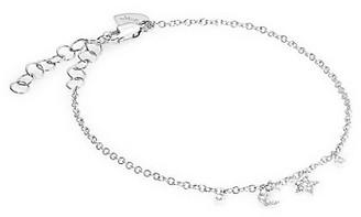 Meira T 14K White Gold Diamond Moon Star Charm Bracelet
