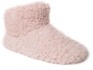 Dearfoams Women's Fluffy Pile Bootie Slipper