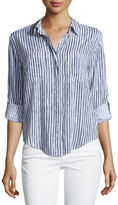 Velvet Heart Riley Button-Up Blouse, Acide Blue