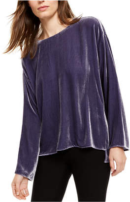 Eileen Fisher Boat-Neck High-Low Top