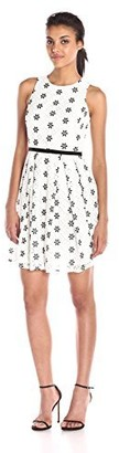 Taylor Dresses Women's Embroidered Dress with Keyhole