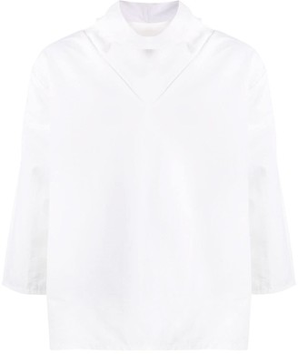 Alchemy draped neck boxy-fit T-shirt