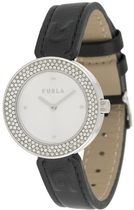 Furla Code crystal round watch