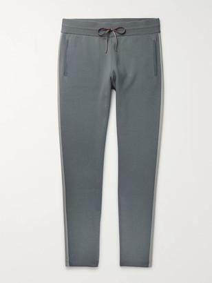 Loro Piana Tapered Cashmere-Trimmed Virgin Wool Sweatpants