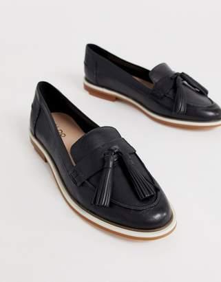 Aldo Yiaven leather tassle loafer-Black