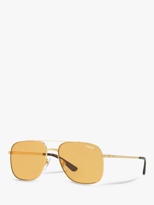 Vogue VO4083S Women's Rectangular Sunglasses, Gold/Orange