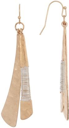 Area Stars Two-Tone Double Stick Drop Earrings
