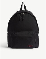 Eastpak Mens Black Woven Authentic Padded Pak'R Canvas Backpack, Size: Large