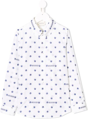 Gucci Kids logo star print shirt