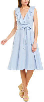 Gabby Skye Linen-Blend A-Line Dress