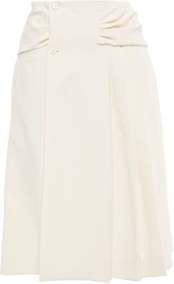 Carven Ruched Woven Skirt