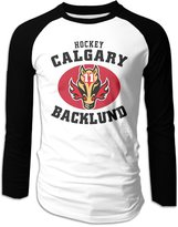 Hera-Boom Mikael Backlund Long Sleeve Baseball Raglan Shirts For Men L