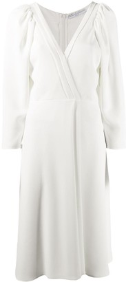 Ermanno Scervino Rounded Shoulder Midi Dress