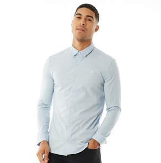 Jack Wills Mens Hinton Stretch Skinny Fit Long Sleeve Shirt Pale Blue