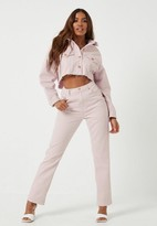 Missguided Blush Co Ord Wrath Highwaisted Straight Leg Jeans