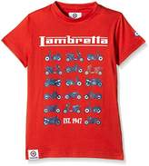 Lambretta Boy's Moto Plain Crew Neck Short Sleeve T-Shirt