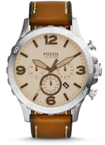 Fossil Nate Chronograph Light Brown Leather Watch