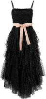 RED Valentino bow embellished tulle long dress