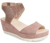Gabor Women's Grid Perforated Platform Sandal