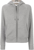 Burberry zipped hoodie - women - Cotton/Polyester - S