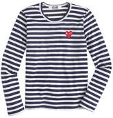 Comme des Garcons PLAY stripe heart T-shirt