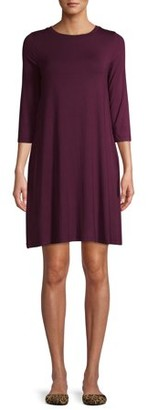 Time and Tru Women's 3/4 Sleeve Knit Dress