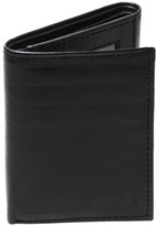 Cathy's Concepts Men's 'Oxford' Monogram Leather Trifold Wallet - Black