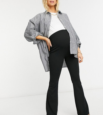 ASOS DEISGN Maternity jersey over the bump slim kickflare suit trouser