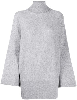 Allude Bell-Sleeve Roll Neck Jumper