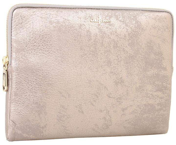 Cole Haan Tablet Zip Around (Gunsmoke Metallic) - Bags and Luggage