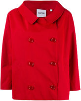 Aspesi short double-breasted coat - women - Cotton/Polyester - S