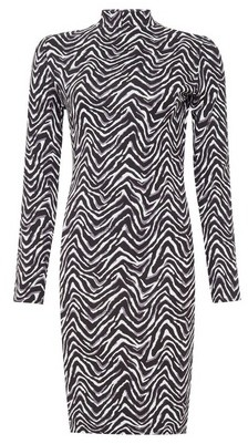 Dorothy Perkins Womens Monochrome Zigzag Print Bodycon Dress