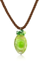 Murano House of Vortice - Lime Glass Swirling Drop Necklace