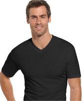 Alfani Men's Underwear, Tagless Cotton Spandex Slim Fit V Neck T Shirt 2 Pack